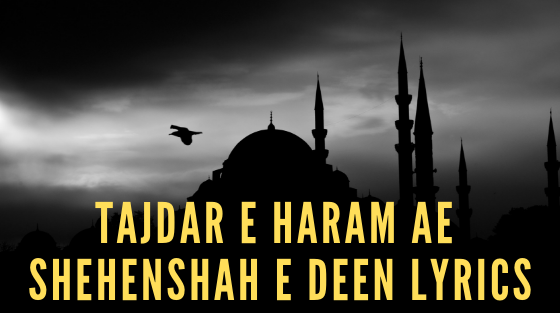 Tajdar E Haram Ae Shehenshah e Deen Lyrics in Hindi